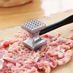 Aluminium Double Side Meat Steak Tenderizer Hammer Kitchen Pounder Tool