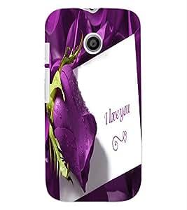 ColourCraft Love Quote with Flower Design Back Case Cover for MOTOROLA MOTO E