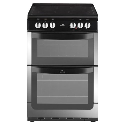 New World NW551ETCSTA 550mm Twin Cavity Electric Cooker Ceramic Hob S\/Steel