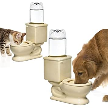 Toilet shaped water Bowl for dogs and cats