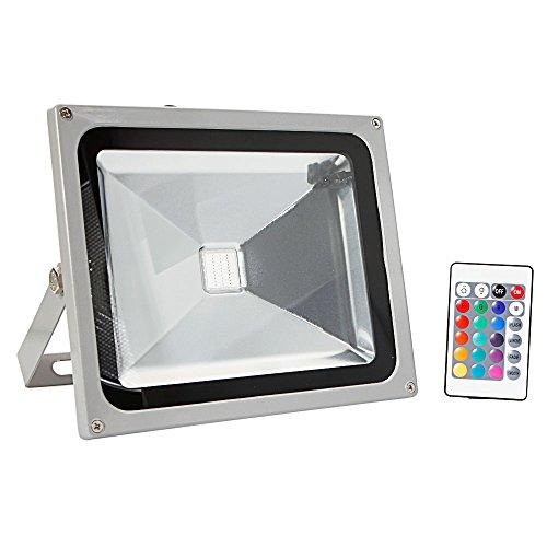 led flood light dimmable rgb color changing spotlight security light. Black Bedroom Furniture Sets. Home Design Ideas