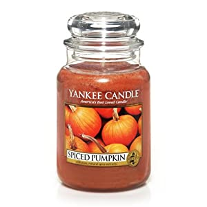 Yankee Candle Large 22-Ounce Jar Candle, Spiced Pumpkin