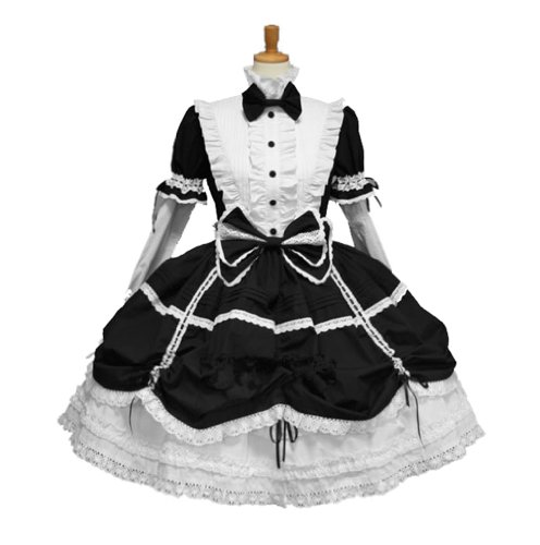 Black Mistress Maid Adult Womens Sexy French Girl Halloween Costume