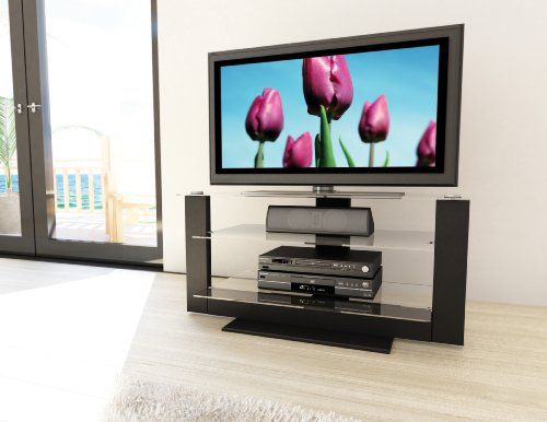 Cheap Sonax AT-1420 Atlantic 40-Inch Midnight Black TV Stand with Glass Shelves (AT-1420)