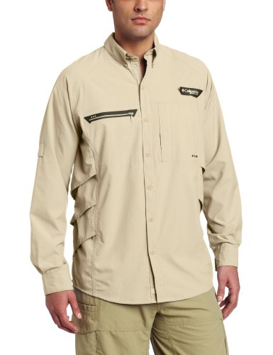 Columbia men s airgill chill zero long sleeve shirt omni for Fishing shirts that keep you cool