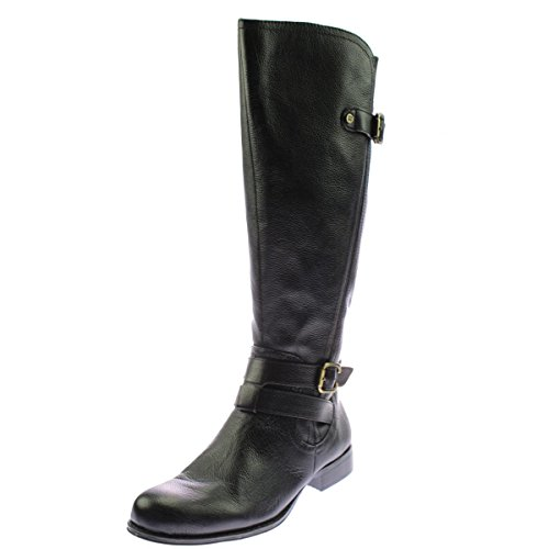 Naturalizer Womens Jordie Leather Riding Boots Black 7 Extra Wide (E+, WW) (Naturalizer Extra Wide Shoes compare prices)