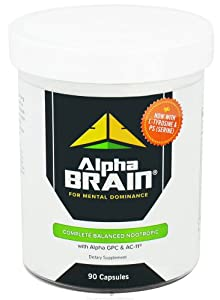 Alpha Brain Complete Balanced Nootropic - 90 Capsules from Onnit Labs
