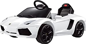 LICENSED LAMBORGHINI AVENTADOR Ride on Toy Battery Operated Car for Kids Remote Control with Music and Light