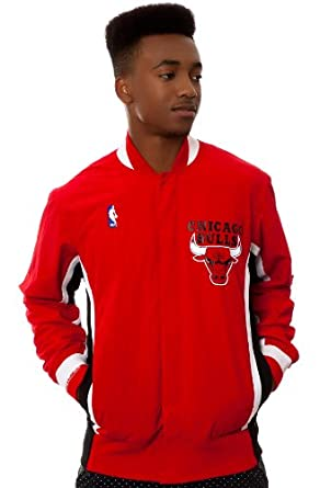 NBA Mitchell & Ness Chicago Bulls Vintage Warm-Up Jacket - Red by Mitchell & Ness