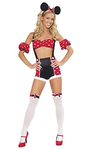 Sexy Pin Up Minnie Mouse Girl Halloween Costume
