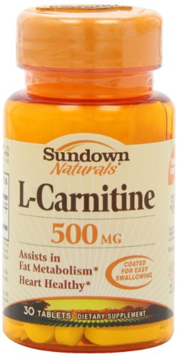 Sundown Naturals L-Carnitine, 500 Mg, 30 Tablets