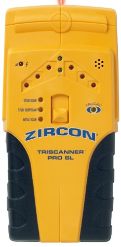 Zircon TriScanner Pro SL Edge-Finding Stud Finder with Metal Scanning