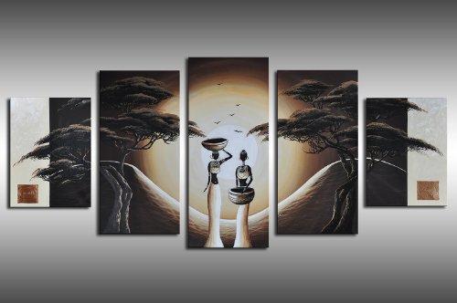 Barato sue os africanos m4 5 imagen 150x70 cuadros en for Cuadros plateados baratos