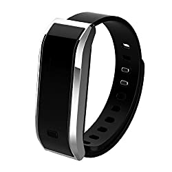 Aottom Bluetooth Bracelet Waterproof Smart Activity Tracker With Sleep Monitor and Calorie Count iPhone & Android Watch (Silver)