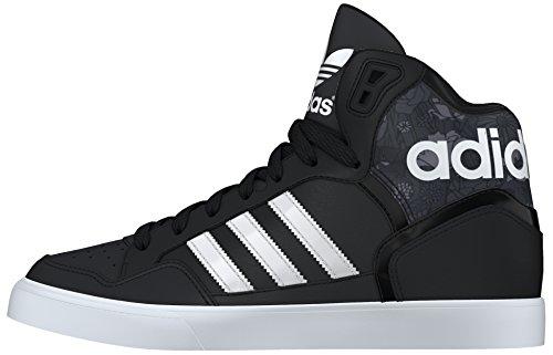 adidas - EXTaball W, Scarpe sportive Donna, Nero (Negbas / Ftwbla / grigio), 41 1/3