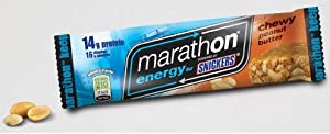 Snickers Marathon Energy Bar Chewy Peanut Butter 12 Bars