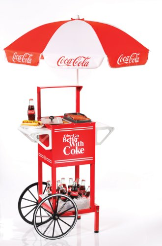 Nostalgia Electrics HDC510COKE Coca-Cola Series Hot Dog Party Cart