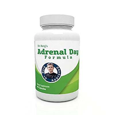 Adrenal Day Formula - Reduce Stress, Promote Calmness And Fight Fatigue - All Natural Vegetarian Supplements- 90 Capsules By Dr. Berg