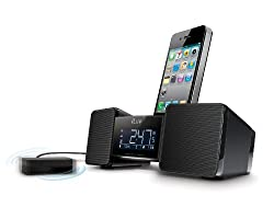 iLuv iMM155 Vibro II (Newest Version of iMM153) Audio Dock Alarm Clock with Bed Shaker for Apple iPod iPod Touch iPhone 3GS iPhone 4 iPhone 4S and Android using 3.5mm Aux Jack - Black