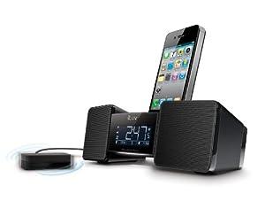 iLuv Vibro II Alarm Clock 30-Pin Speaker Dock with Bed Shaker (Black)