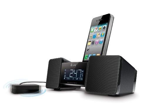 iLuv IMM155BLK Vibro II Alarm Clock 30-Pin Speaker Dock with Bed Shaker (Black) - old Model (Iluv Vibro Ii compare prices)