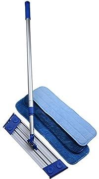 Sinland Microfiber Dust Mop Kit Lightweight Rotating Mop Retractable Aluminum Handle with 3 Free Microfiber Mop Pads