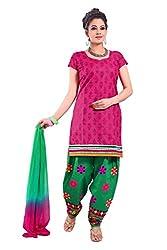 Cenizas embroidered Semi Stich Salwar Suit Duptta