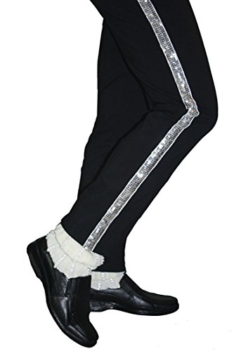 Michael Jackson Billie Jean Pants Costume with Socks. Sizes from XXXXS to XXXL from Kids to Adults.