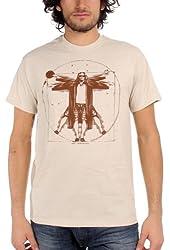 The Big Lebowski - Vitruvian Lebowski Mens T-Shirt in Sand