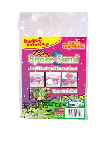 Dunecraft Neon Space Sand Science Kit, Orange, Purple, Green