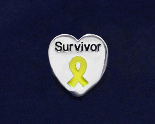 Yellow Ribbon Pin- Survivor Tac Pin (50 Pins)