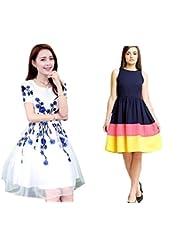 Sky Global Women's Regular Wear Kurti (Combo Pack Of 2)(SKY_KC_6019)(SKY_7032_Blue)(Sky_Kurti_7028_Nevi Blue_Free...