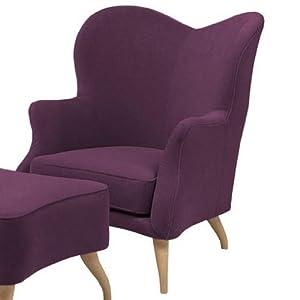 gubi bonaparte sessel lila stoff holmens 19 f e eiche. Black Bedroom Furniture Sets. Home Design Ideas