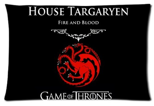 Hipster Elegant Active Game of Thrones House Targaryen Custom Rectangle Pillowcase Pillow Cases Cover 16x24 (one side) Standard Size HD pic Picture