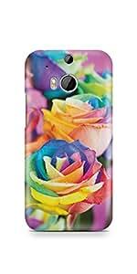Casenation Vibrant Roses HTC One M8 Matte Case