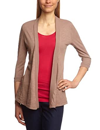 Bobi - Gilet - Manches 3/4 Femme - Beige (Nut) - FR : 36 (Taille fabricant : XS)
