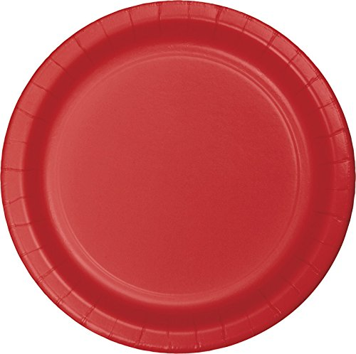 Creative Converting Value Pack Paper Luncheon Plates, Classic Red, 75-Count