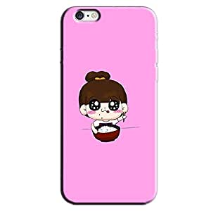 CUTE EATING GIRL BACK COVER FOR APPLE IPHONE 6 PLUS