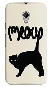 Dreambolic meow White Back Cover for Moto G3