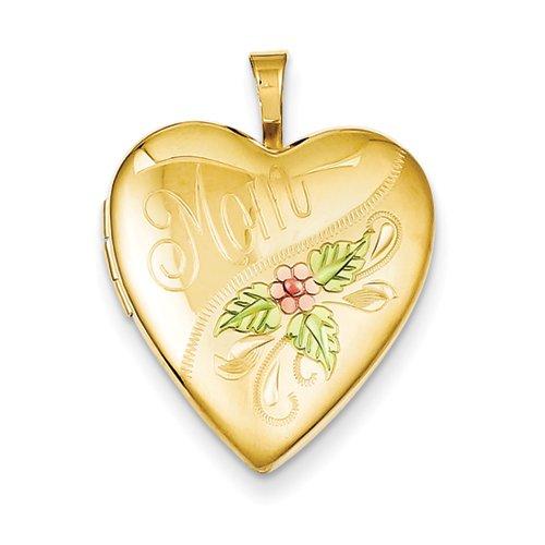 1/20 Gold Filled 20mm Enameled Mom Heart Locket