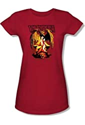 Vampirella Bat Throne Juniors Babydoll Cap Sleeve T-shirt