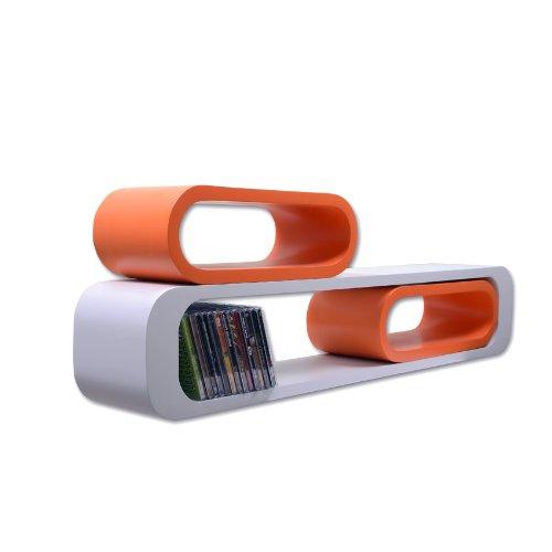 White Floating Cube Shelf