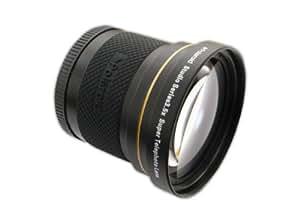 Super téléobjectif HD 3.5x 52/58 mm de Polaroid Studio Series, Inclut une housse d'objectif et les couvercles d'objectif