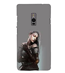 printtech Beautiful Anime Cute Girl Back Case Cover for OnePlus Two / One plus two / Oneplus 2 / One Plus 2