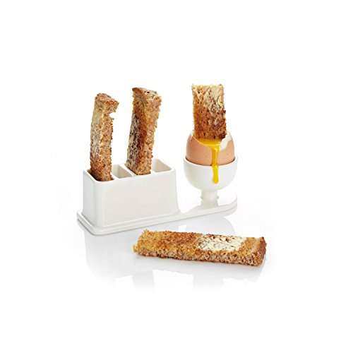 15 x 5 x 4.5cm White Porcelain Egg And Soldiers Rack (Toasted Oven Rack compare prices)