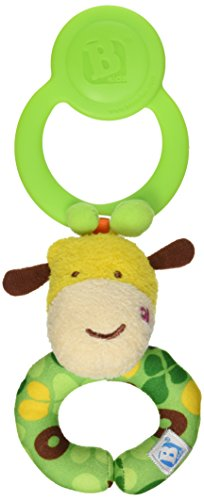 B kids Loop Around Wrist Plush Rattle