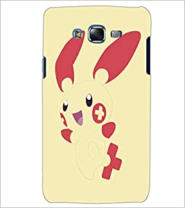 PrintDhaba Bunny D-5145 Back Case Cover for SAMSUNG GALAXY J7 (Multi-Coloured)
