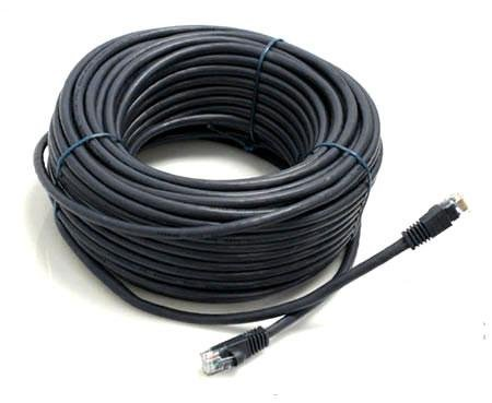 BLACK 100FT CAT5 Enhanced CAT5E RJ45 PATCH ETHERNET NETWORK CABLE 100'