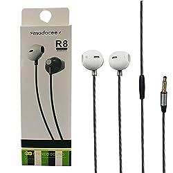 Modocee R8 Super Bass Stereo Earphone for Apple,Samsung, HTC, Lenovo, Oneplus, Motorola, Nexus, Xiaomi Redmi Note 3, Coolpad Note 3 Plus, Lenovo Zuk Z1 / Vibe k5 by Shopizone (Silver)