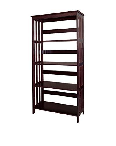 ORE International 4-Tier Bookcase, Espresso